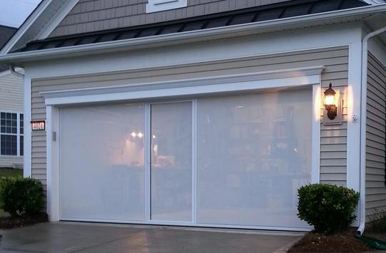 Garage door screens lifestyle screens garage screen for Roll up screen door for garage